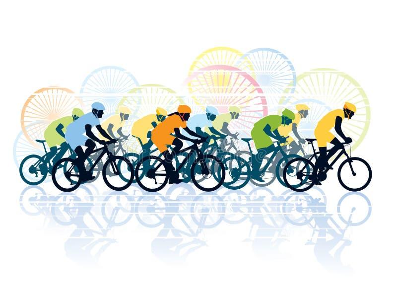 Fahrradrennen vektor abbildung