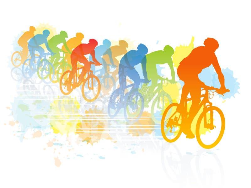 Fahrradrennen stock abbildung
