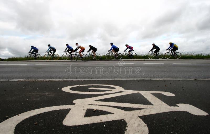 Fahrradrennen stockfotos