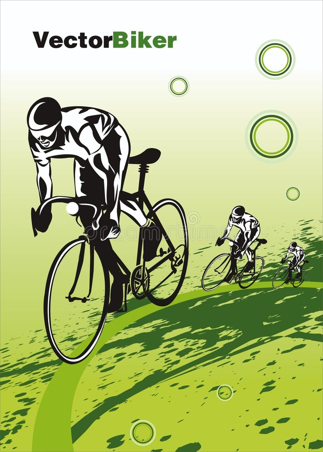 Fahrradrennen - Vektor lizenzfreie abbildung
