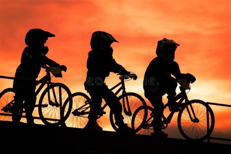 Fahrradsoldaten stockbild