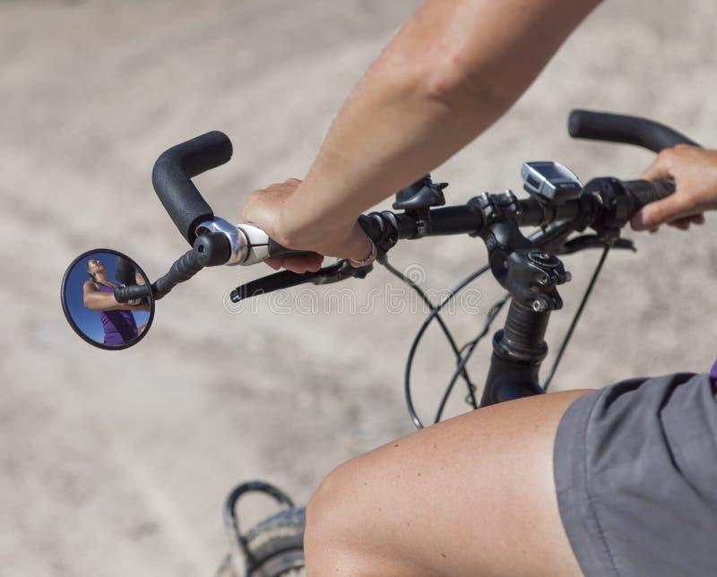 Fahrradspiegel stockbilder