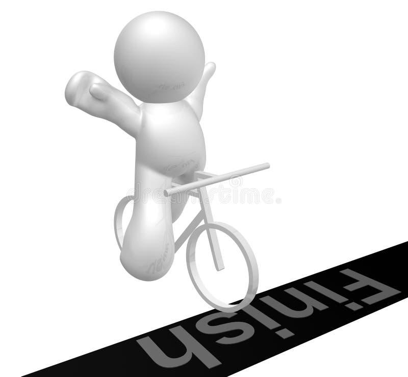 Fahrradsport-Ikonenabbildung lizenzfreie abbildung