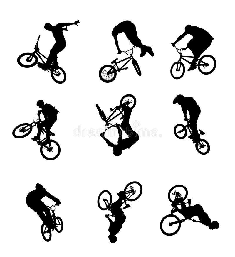 Fahrradspringen lizenzfreie abbildung