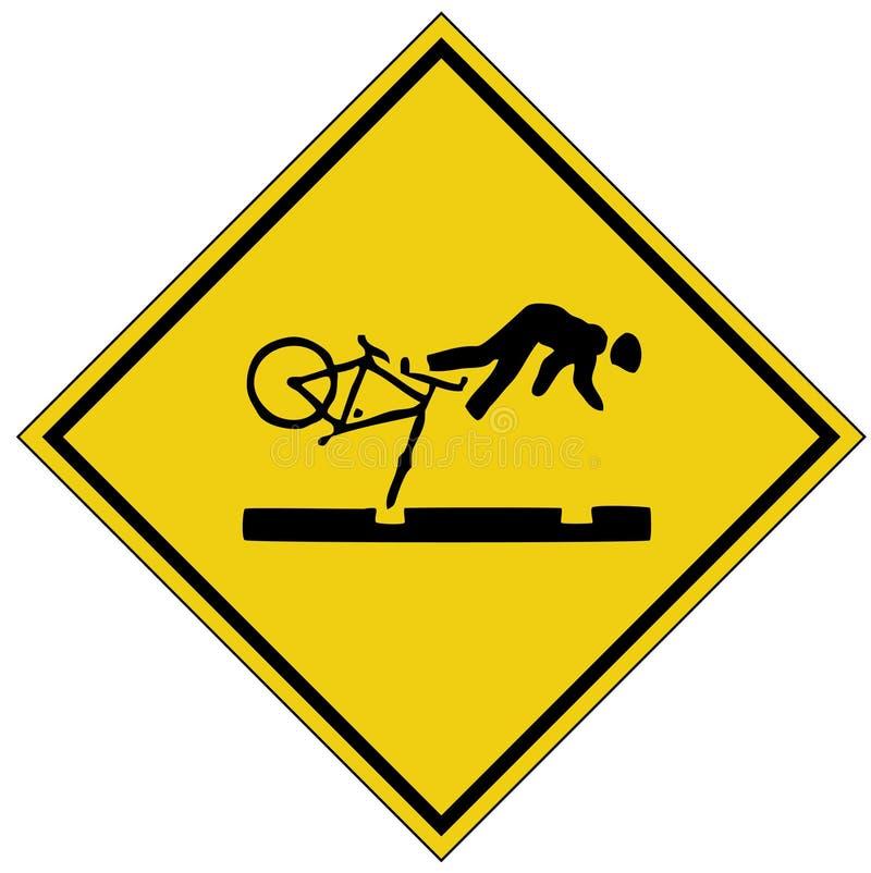 Fahrradsystemabsturzzeichen (AI-Format vorhanden) stockfotos