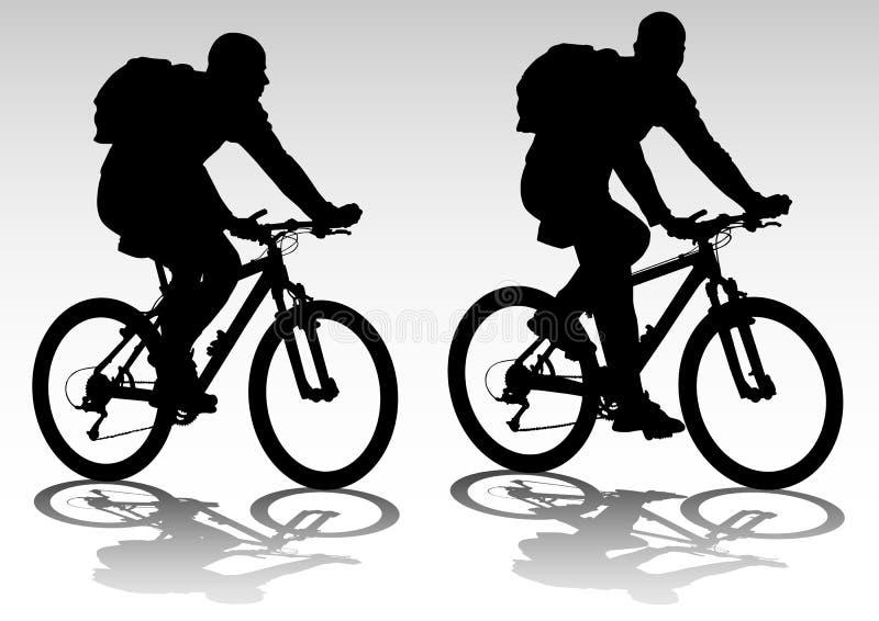 Fahrradtourist lizenzfreie abbildung