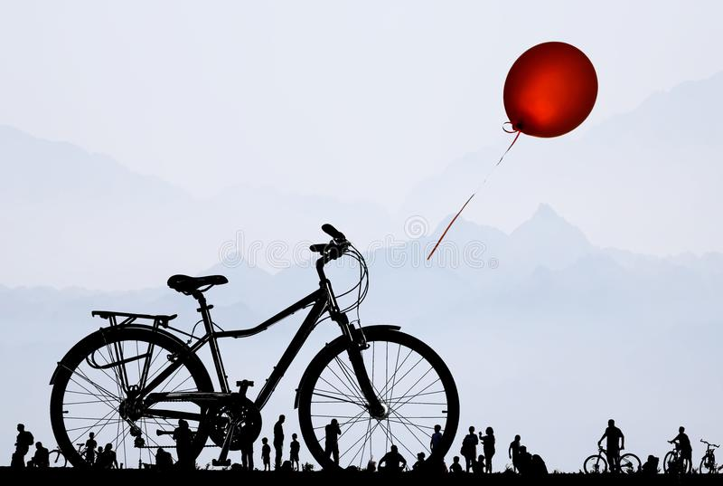 Fahrradträume vektor abbildung
