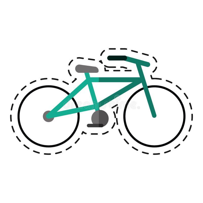 Fahrradtransportökologie -cutlinie lizenzfreie abbildung