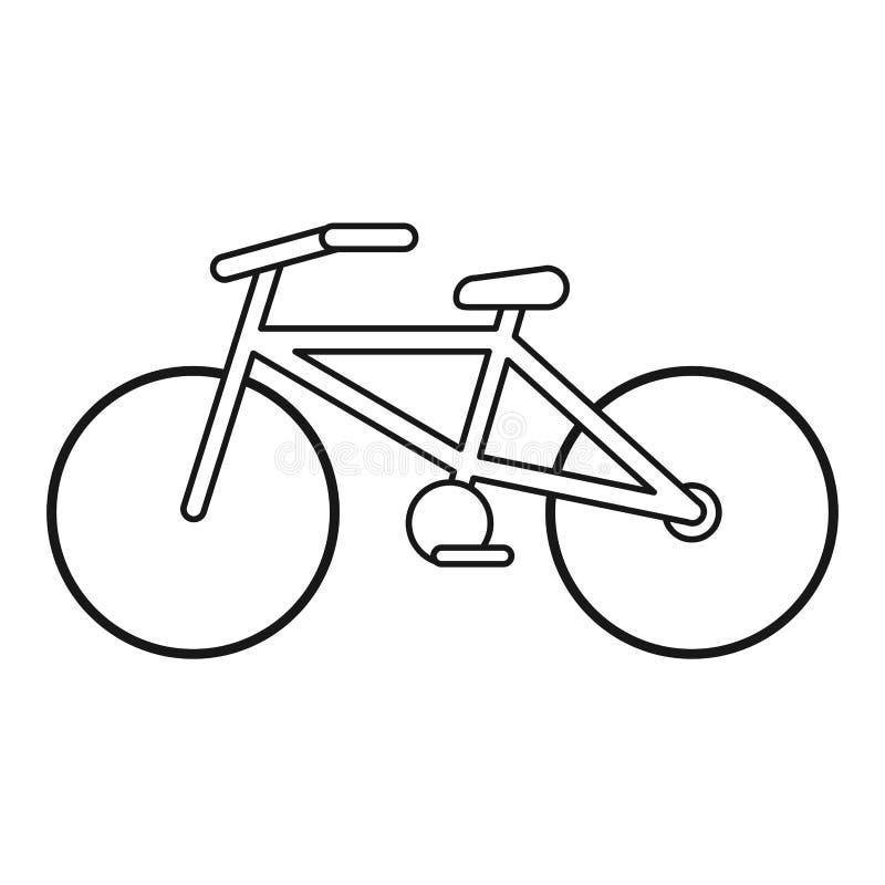 Fahrradtransportökologie verdünnen Linie vektor abbildung