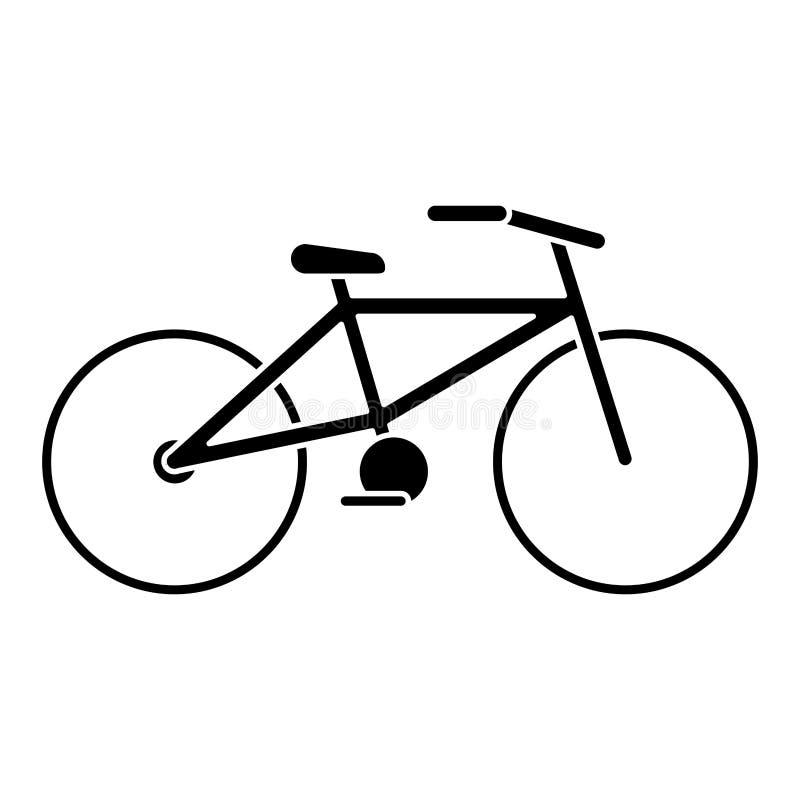 Fahrradtransport-Ökologiepiktogramm stock abbildung