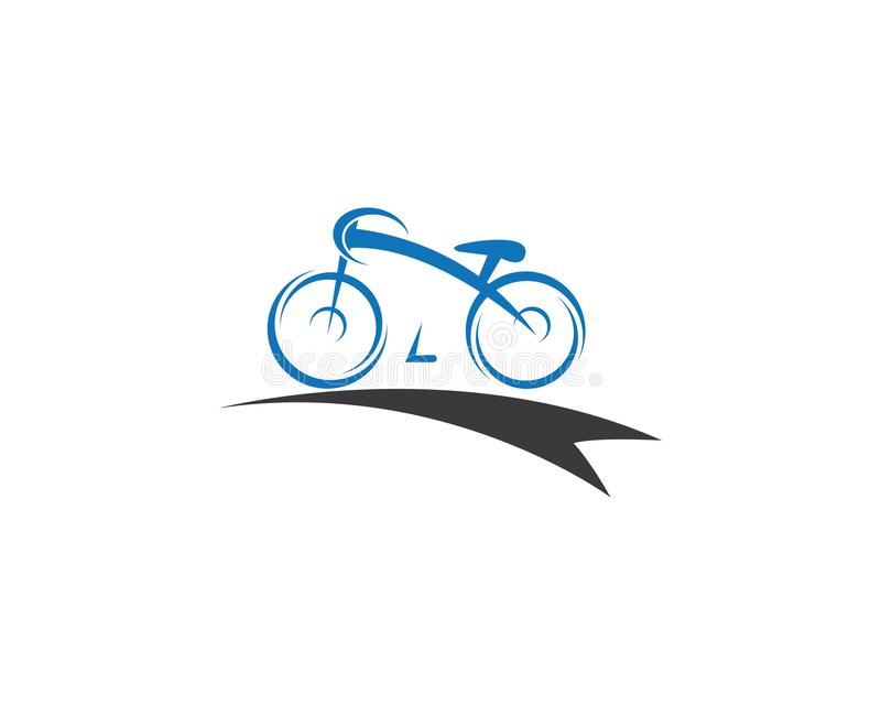 Fahrradvektorikone lizenzfreie abbildung