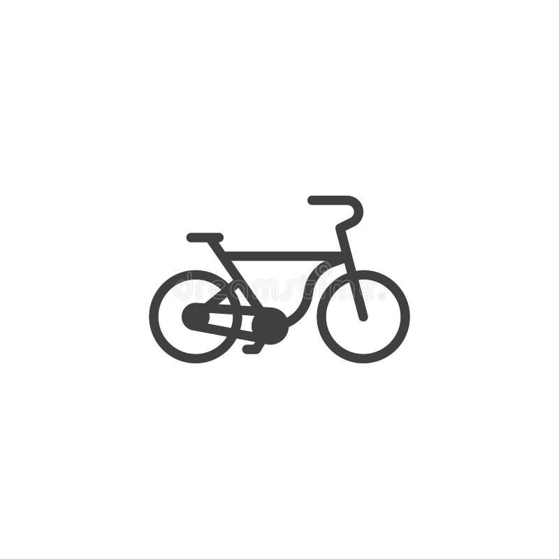 Fahrradvektorikone vektor abbildung