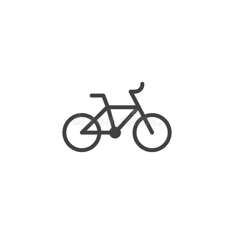 Fahrradvektorikone stock abbildung