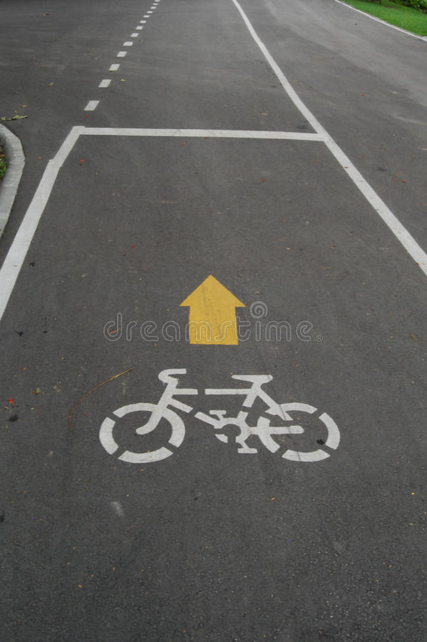 Fahrradweg in Bangkok lizenzfreies stockbild