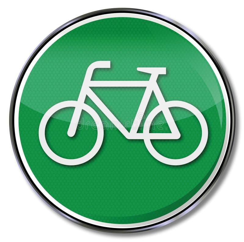 Fahrradweg und Alternative lizenzfreie abbildung