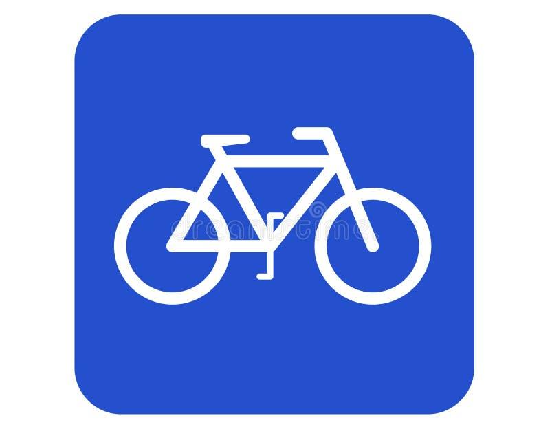 Fahrradzeichen stock abbildung