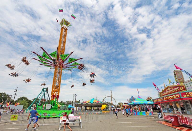 Fahrten auf die Mitte bei Indiana State Fair lizenzfreie stockfotos