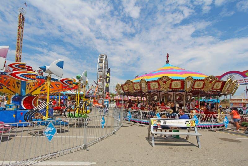 Fahrten auf die Mitte bei Indiana State Fair stockfotografie