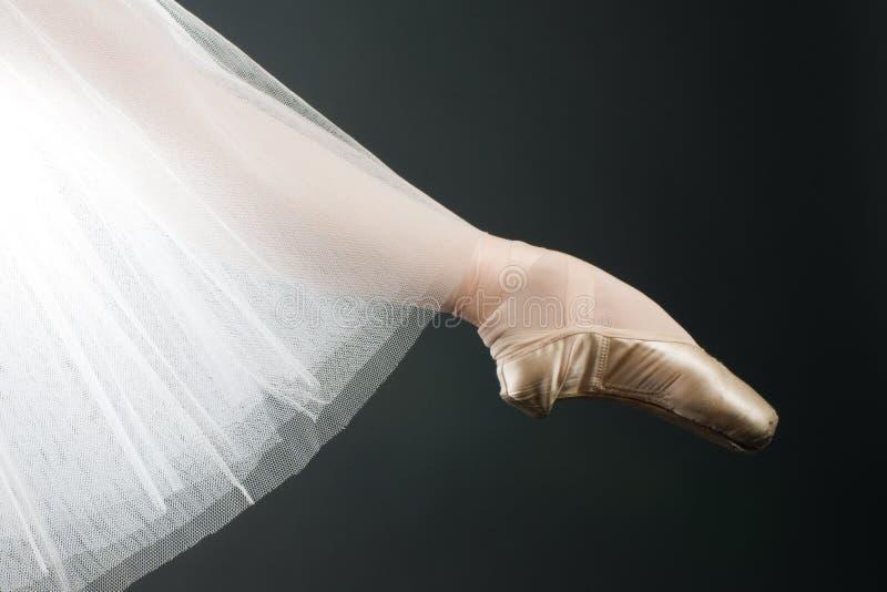 Fahrwerkbeine in den Ballettschuhen stockfotos