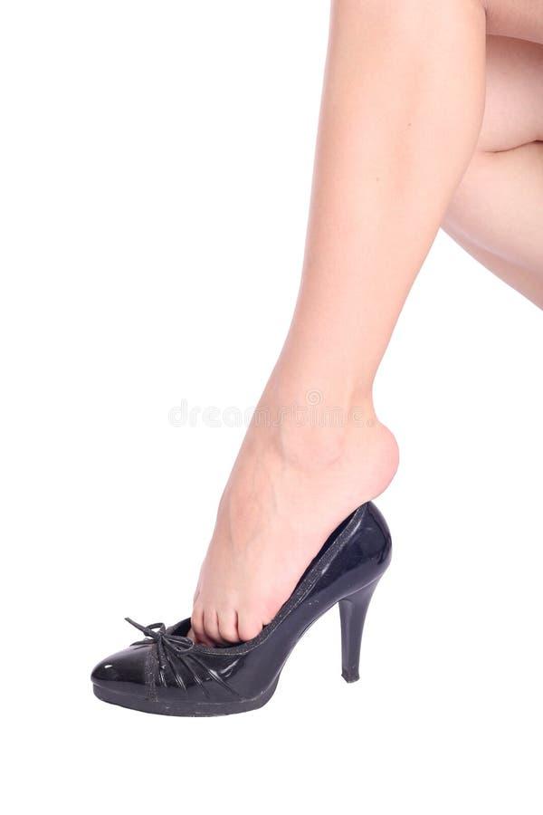 Fahrwerkbeine in den Schuhen lizenzfreies stockbild