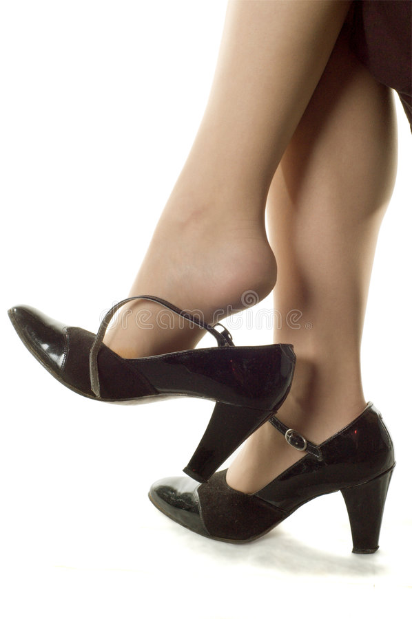 Fahrwerkbeine und Schuhe lizenzfreies stockfoto
