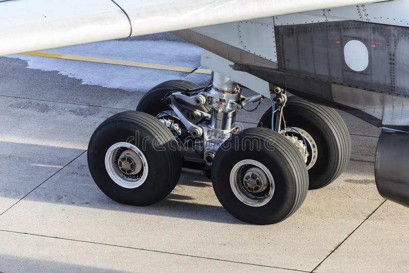 Fahrwerkflugzeug lizenzfreies stockbild