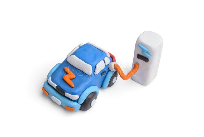 Fahrzeug mit einem Elektromotorkonzept mit Lehm lizenzfreies stockfoto