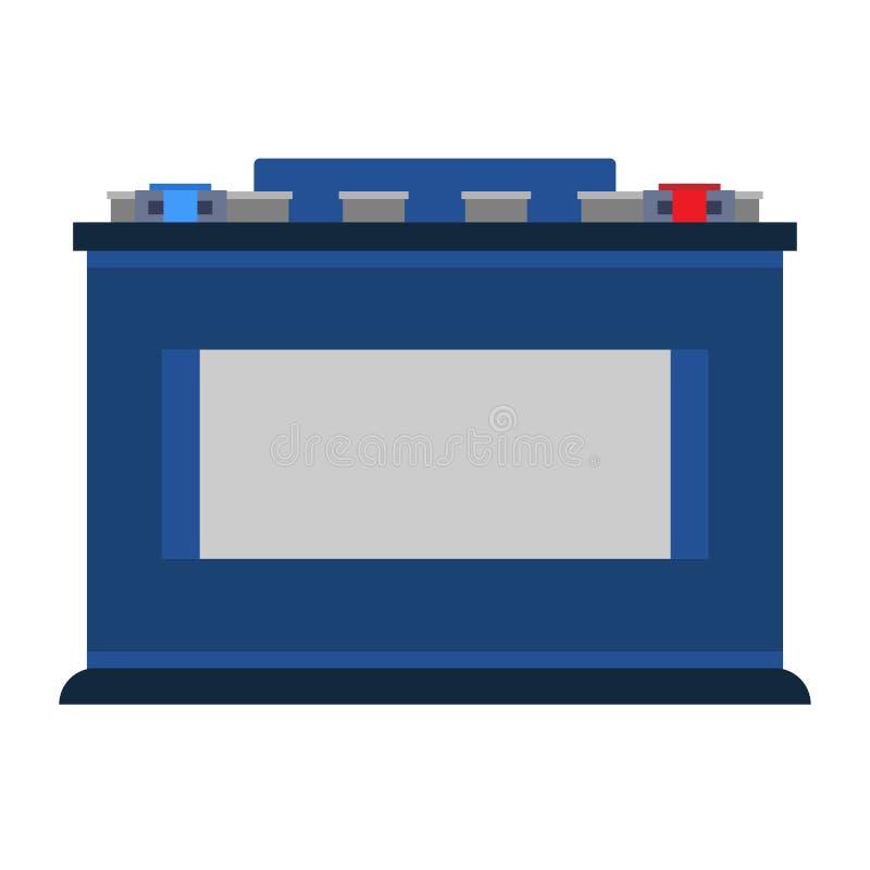 Fahrzeugakkumulatorselbstbatterievektorikonen-Symbol engie Flaches Elementdiagnose-tool des Transportdienst-Zeichens lizenzfreie abbildung