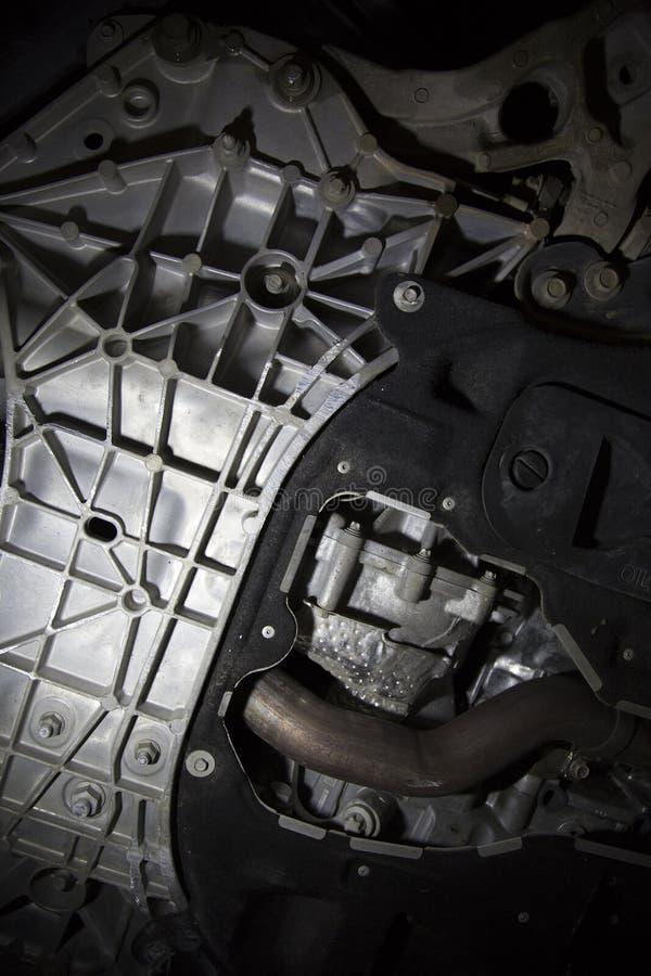 Fahrzeugfahrgestell beschädigt durch Beschränkung stockfotografie