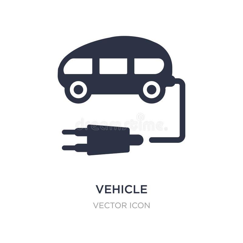 Fahrzeugikone auf weißem Hintergrund Einfache Elementillustration vom zukünftigen Technologiekonzept lizenzfreie abbildung