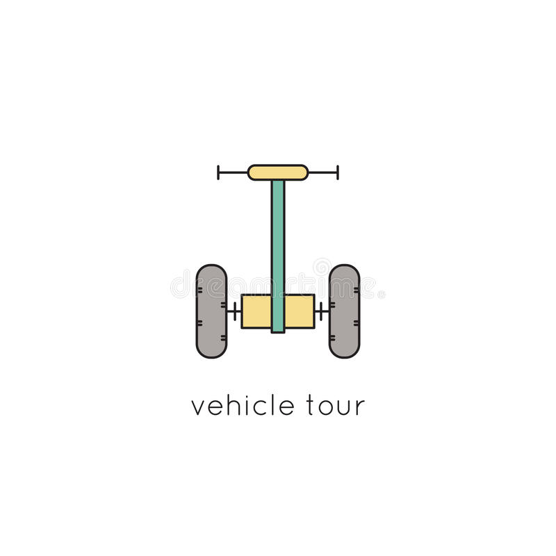 Fahrzeuglinie Ikone lizenzfreie abbildung