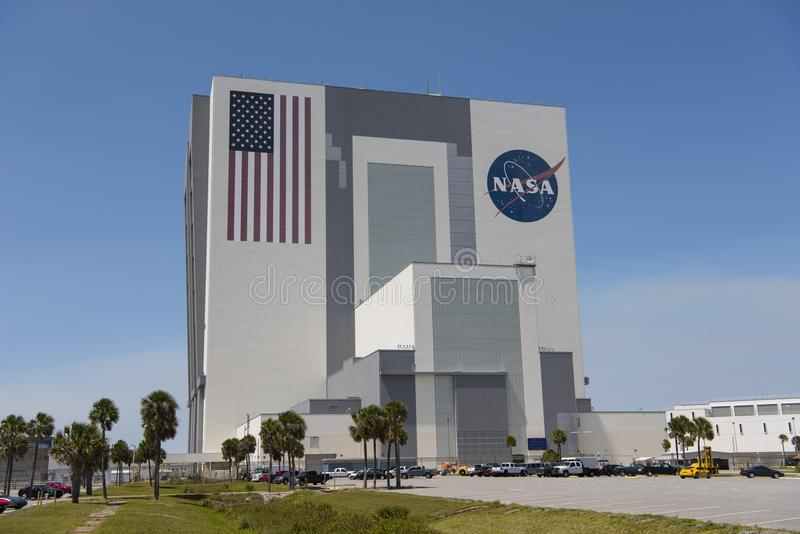 Fahrzeugmontage-Gebäude bei Kennedy Space Center stockfoto