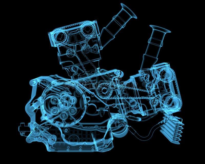Fahrzeugmotor stock abbildung