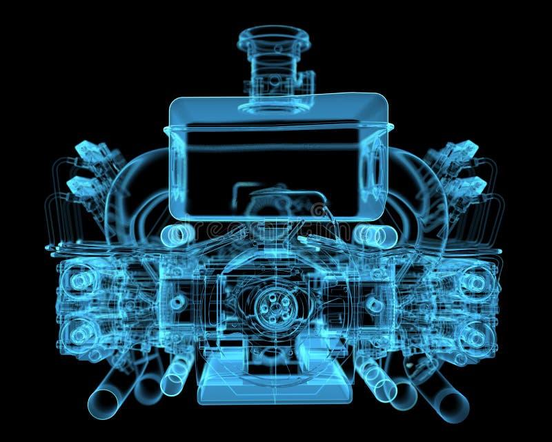 Fahrzeugmotor lizenzfreie abbildung