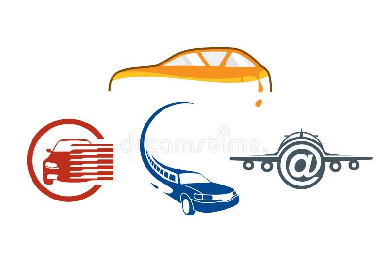 Fahrzeugselbstzeichenschablone stockfoto