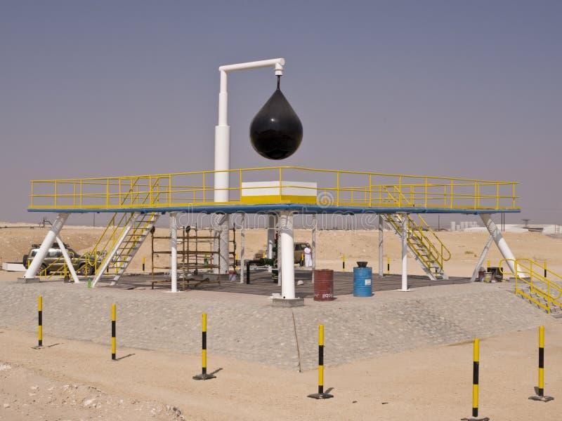 fahud πετρέλαιο Ομάν δύο καλά στοκ φωτογραφία με δικαίωμα ελεύθερης χρήσης