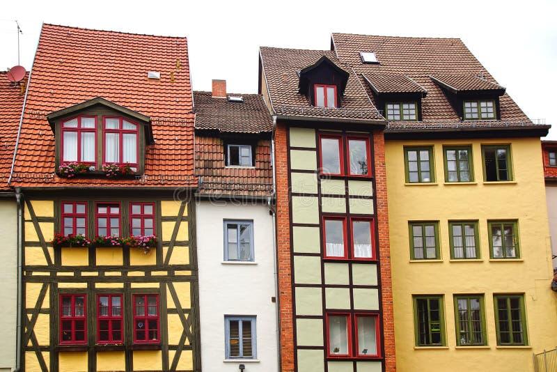 Fahverk房子在埃福特,德国 免版税库存照片
