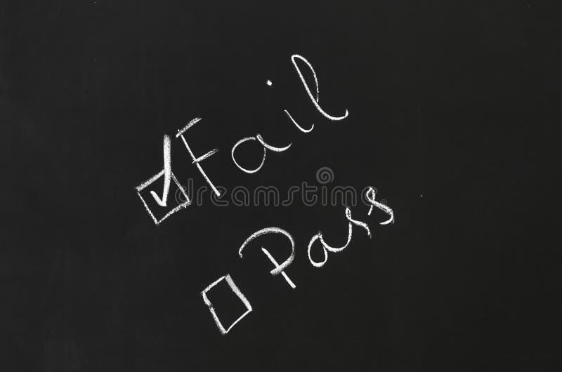 fail стоковая фотография rf