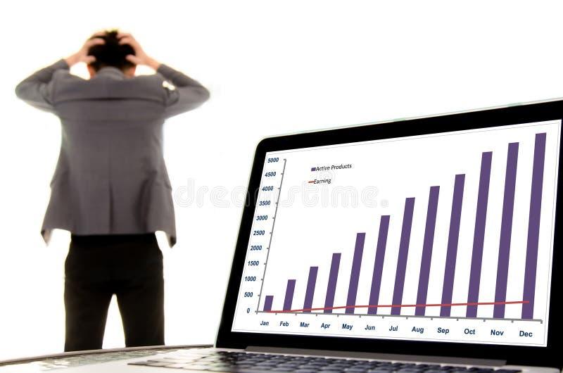 Fail business man stock image