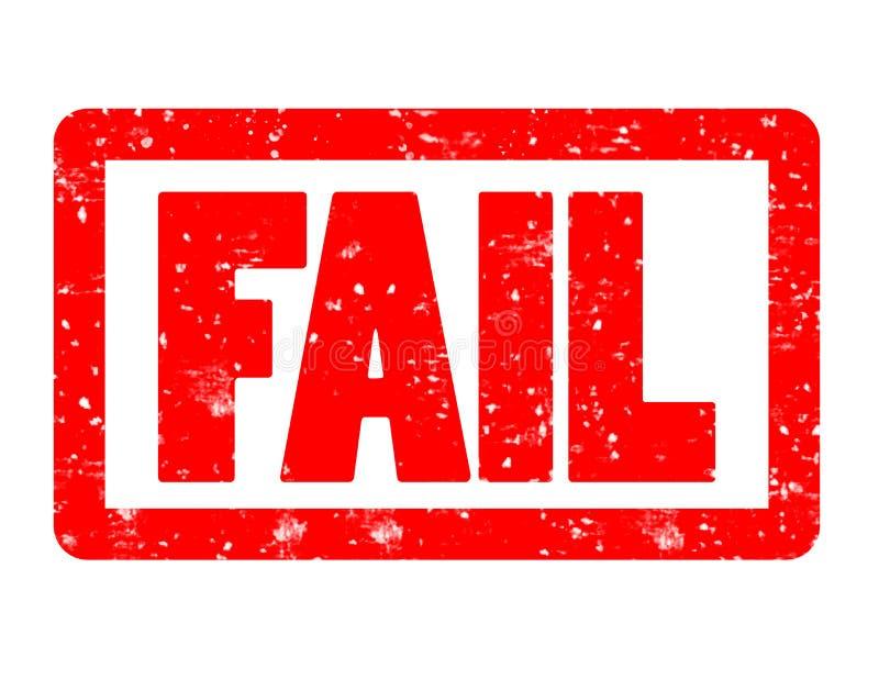 Fail czerwona pieczątka na białym tle fail znaczka znak tex ilustracja wektor