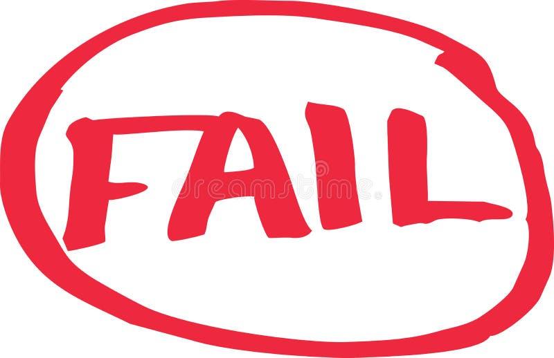 Fail Exam Grade. Written in red vector vector illustration