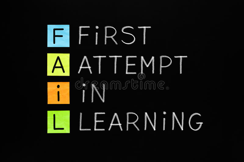 FAIL First Attempt In Learning stock photography