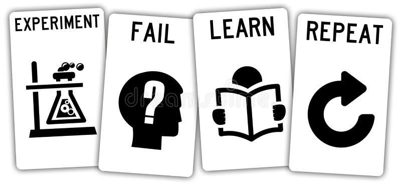 Fail and learn vector illustration