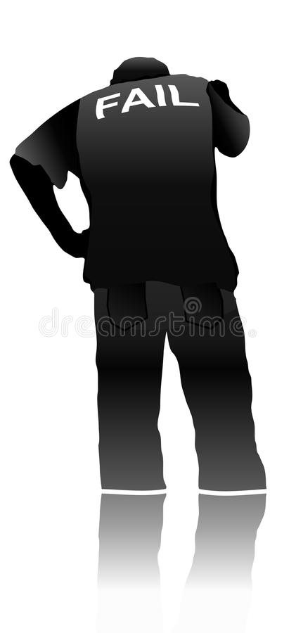 Free Fail/lose Silhouette People Stock Images - 17865274