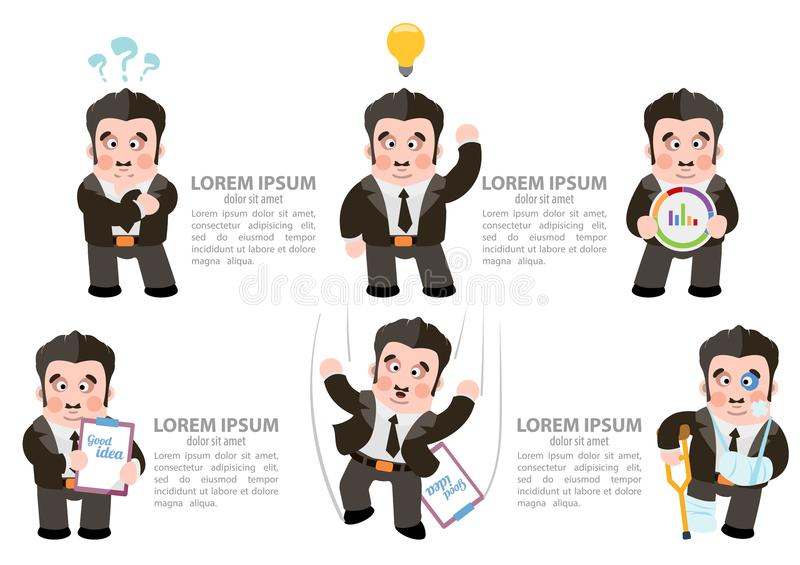 Fail to adopt idea. Failure to adopt idea. Vector illustration isolated on white background royalty free illustration