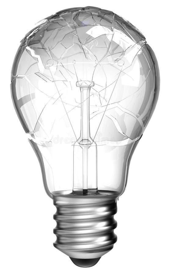 Download Failed Idea. Smashed Lightbulb Isolated Stock Illustration - Image: 17593284