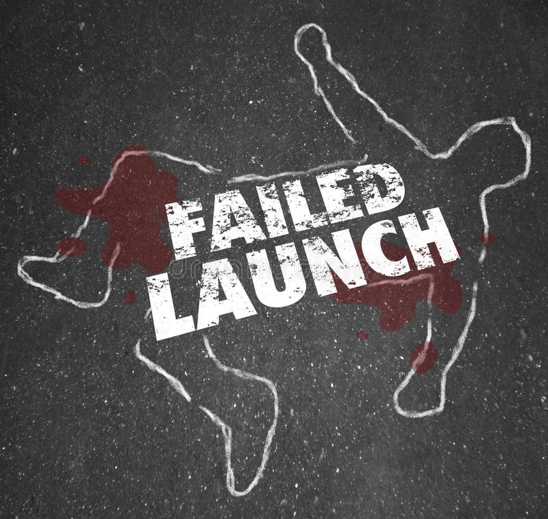 Free Failed Launch Unsuccessful New Business Startup Chalk Outline De Stock Images - 48440614