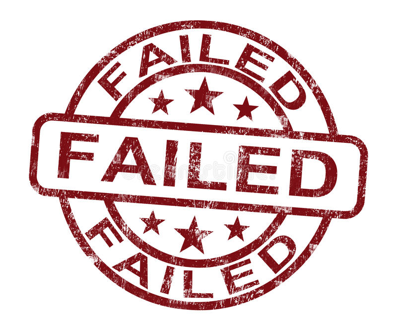 Failed Stamp Showing Reject Or Failure. Failed Stamp Showing Reject Crisis Or Failure stock illustration
