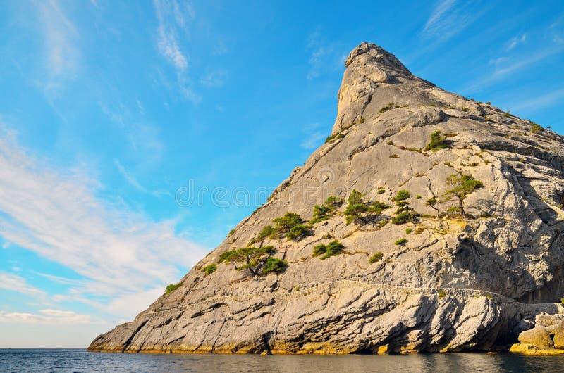 Failed the volcano on the Black sea coast royalty free stock photo