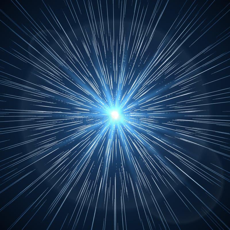 Faille spatio-temporelle Illustration de vecteur de starburst de supernova illustration libre de droits
